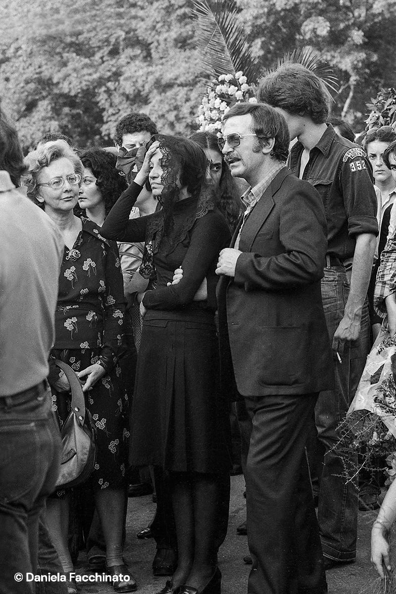 Alceste  Campanile's parents at the son's funeral. Reggio Emilia, 1975