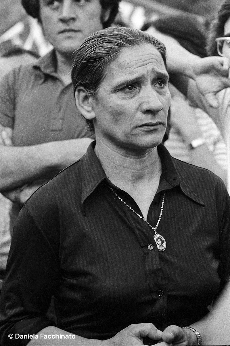 The mother of Mariano Lupo, killed by the neo-fascists in Parma in 1972. Reggio Emilia, 1975