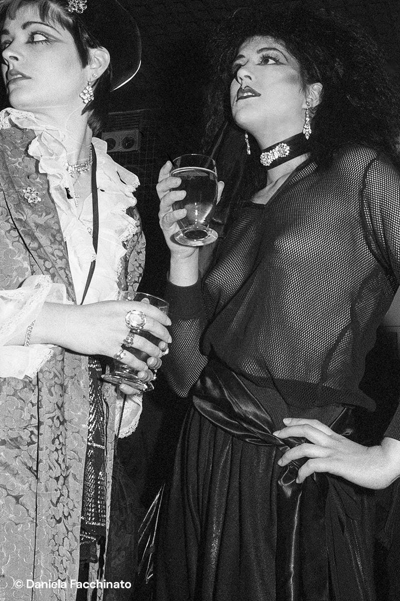 New Romantic girls at Planet Club. London 1981