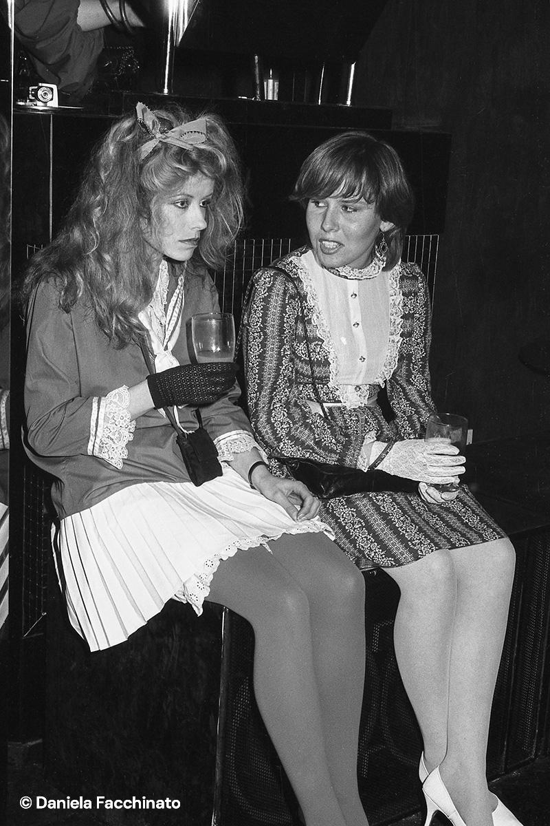 New Romantic girls at Blitz club London 1982