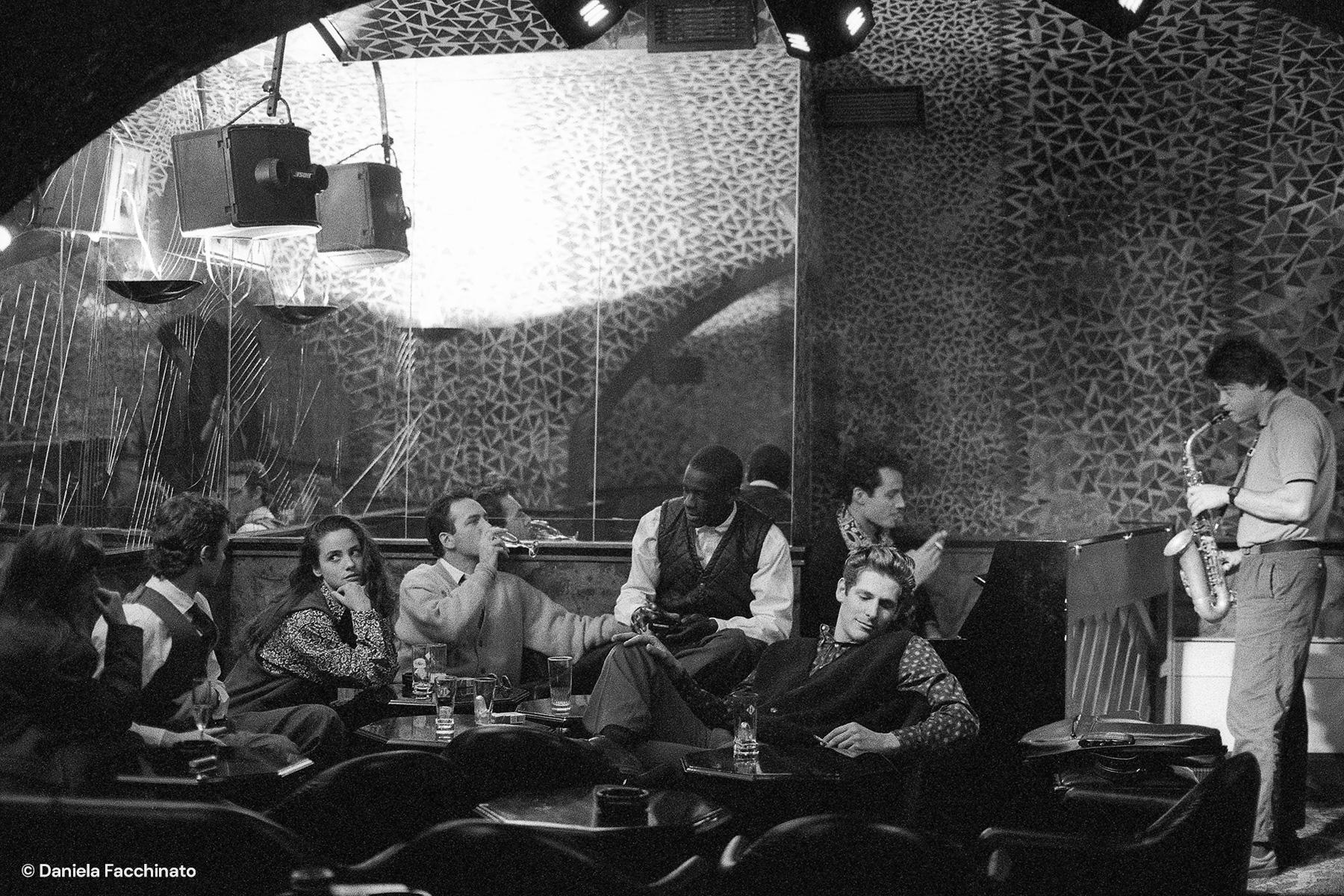 Paris 1989. Montana Jazz Club. Advertising campaign for Massimo Osti